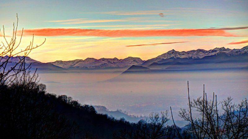 Torino con la nebbia