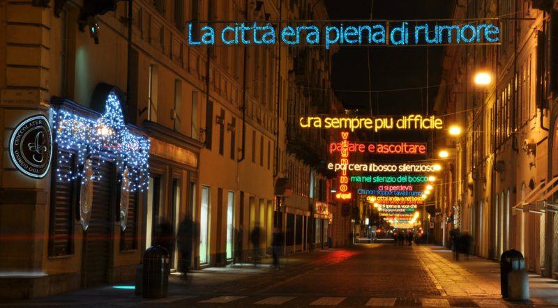 Luci d Artista a Torino: Luì e l'arte di andare nel bosco